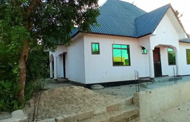 tangazo la kuzwa kwa nyumba nyumba ya vyumba vinne ina uzwa milioni ( 48,000,000 ) ipo mbagala chama
